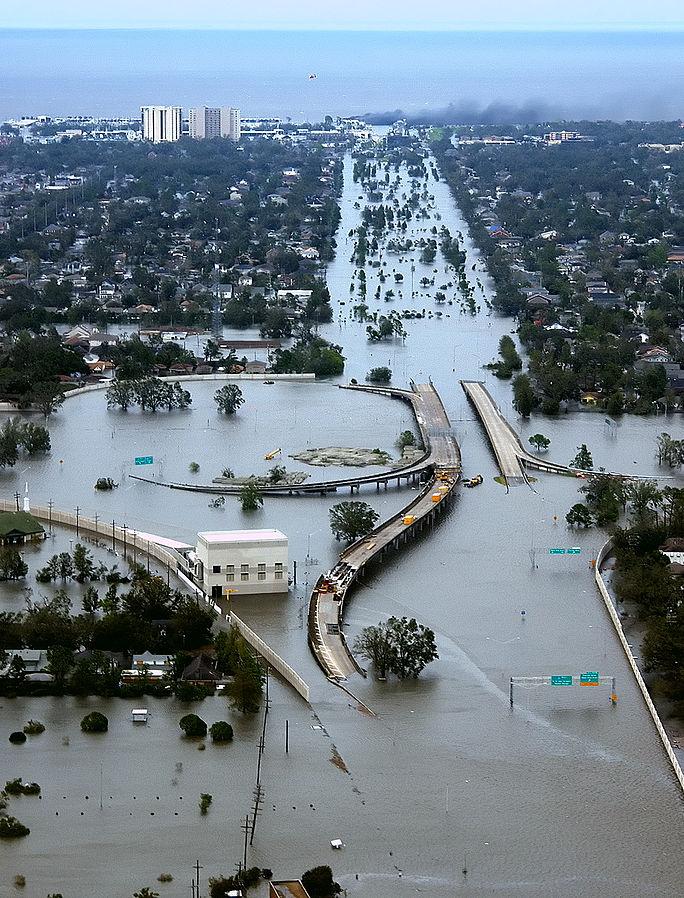 Hurricane Katrina flood